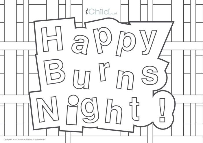 Thumbnail image for the Burns' Night Poster activity.