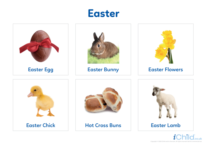 Thumbnail image for the Easter - Photo Flashcard activity.
