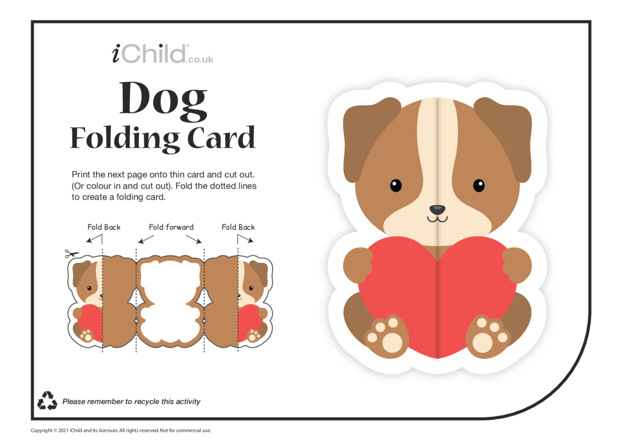 Dog Love Folding Valentine Card