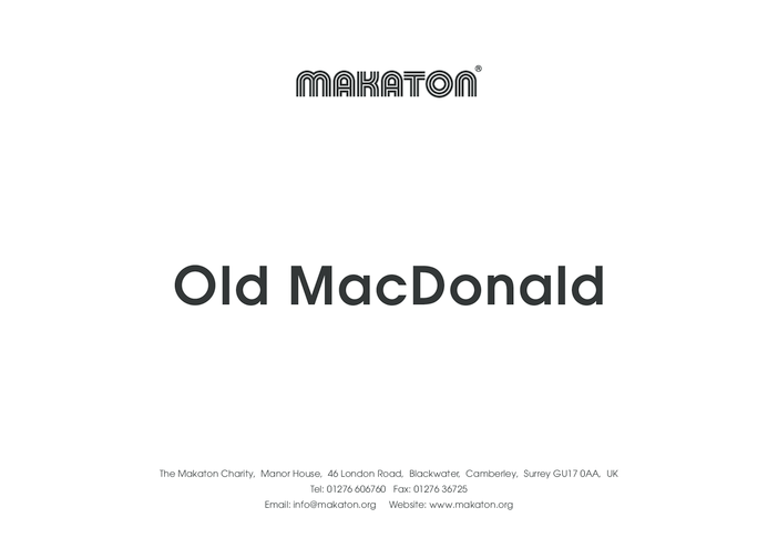 Thumbnail image for the Old MacDonald- Makaton Signs activity.