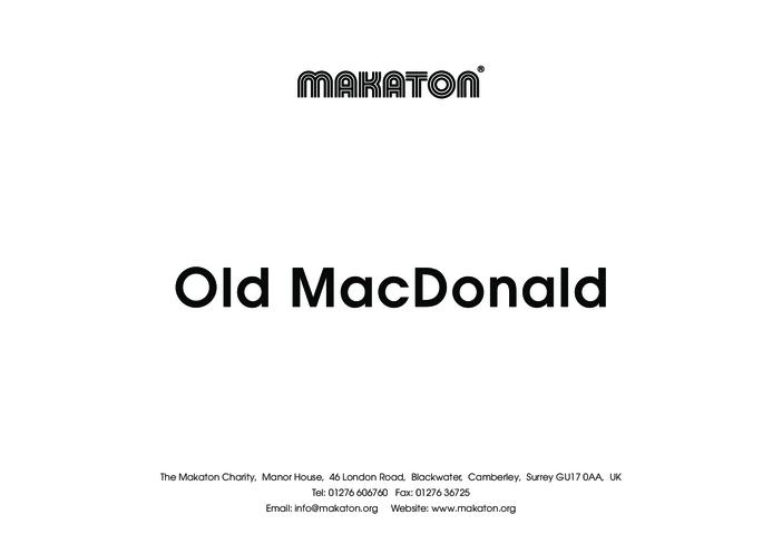 Thumbnail image for the Old MacDonald- Makaton Signs activity.