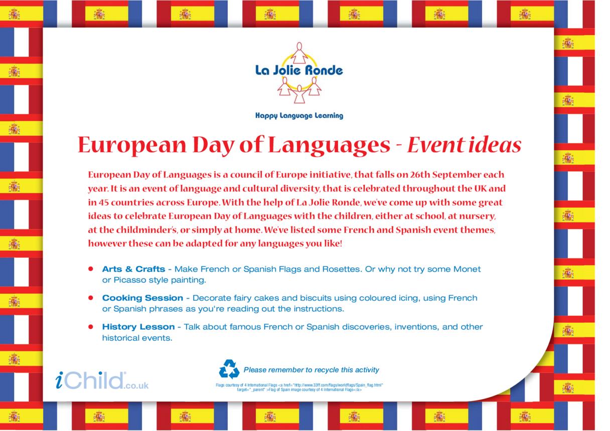 European Day of Languages Ideas
