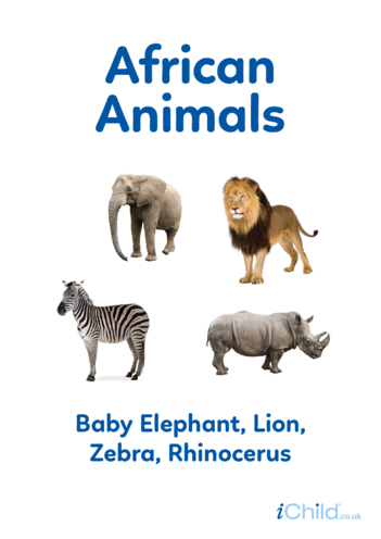 Thumbnail image for the African Animals - Photo Poster activity.