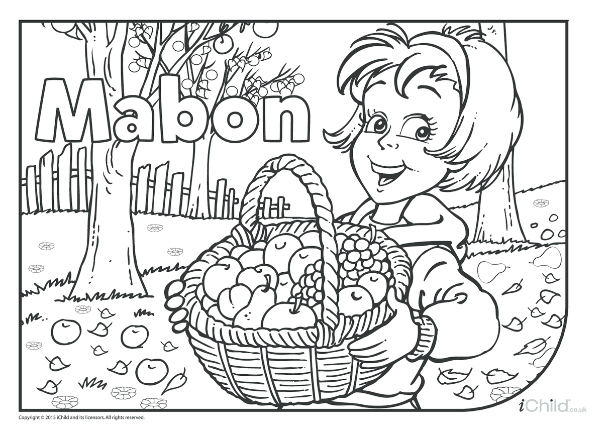 Mabon Colouring in Picture
