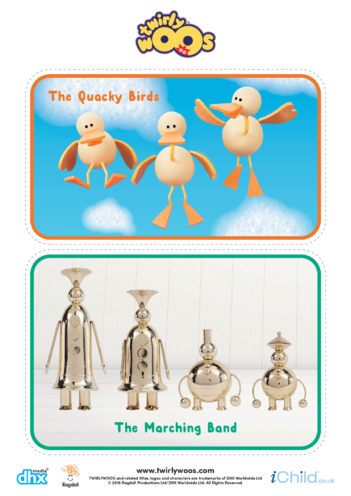 Thumbnail image for the The Quacky Birds & The Marching Band Cut-out activity.