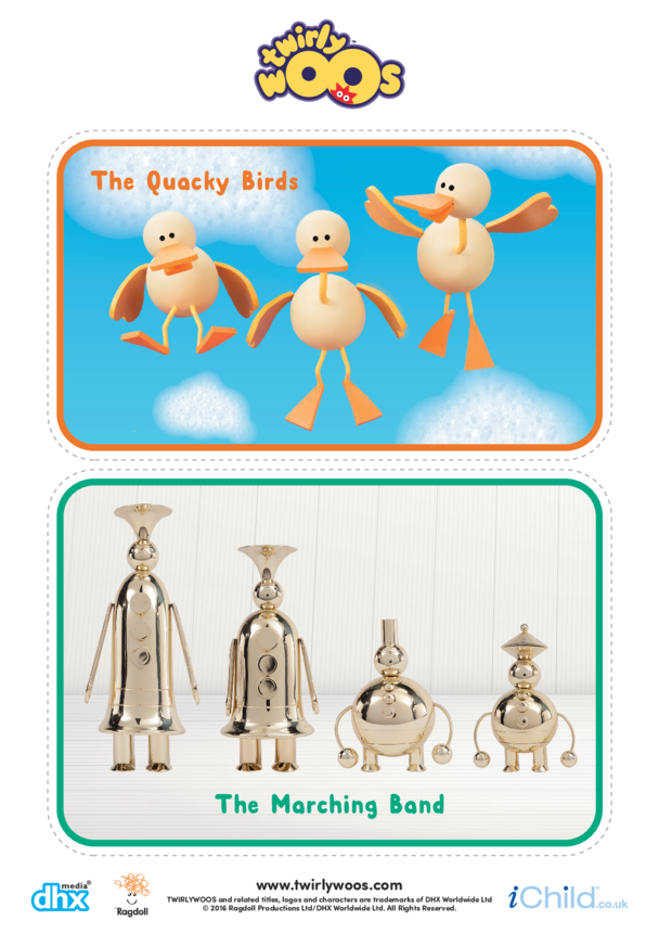 The Quacky Birds & The Marching Band Cut-out