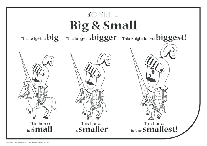 Thumbnail image for the Big & Small - A Knight & his Horse activity.