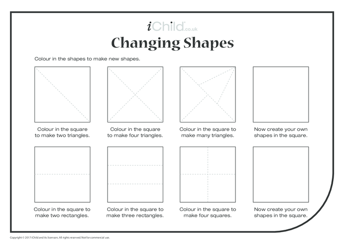 Thumbnail image for the Changing Shapes (Easy) activity.