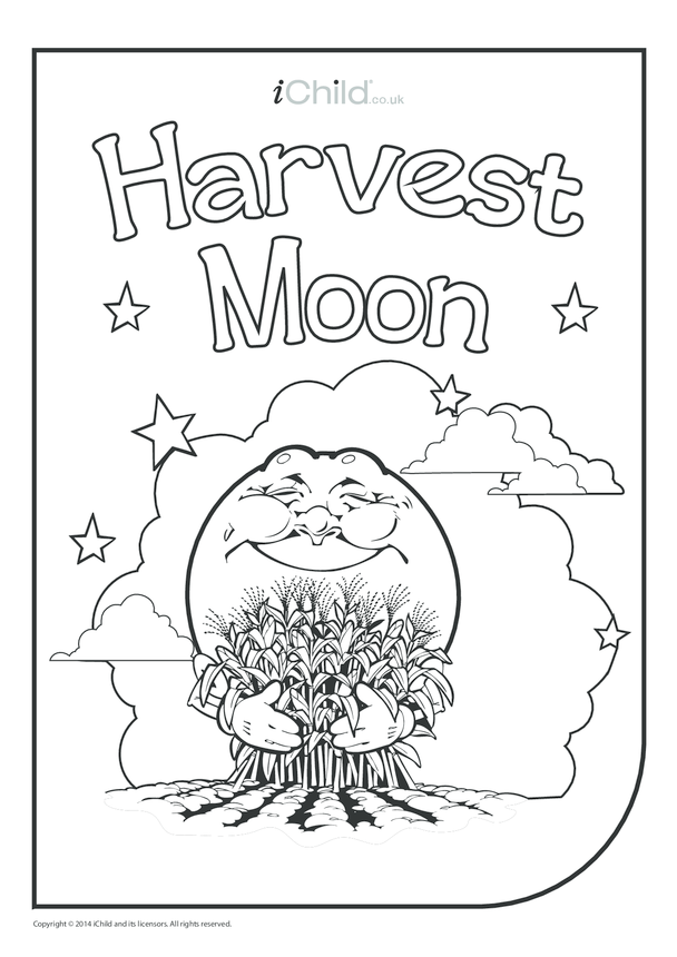 Harvest Moon Colouring in Picture