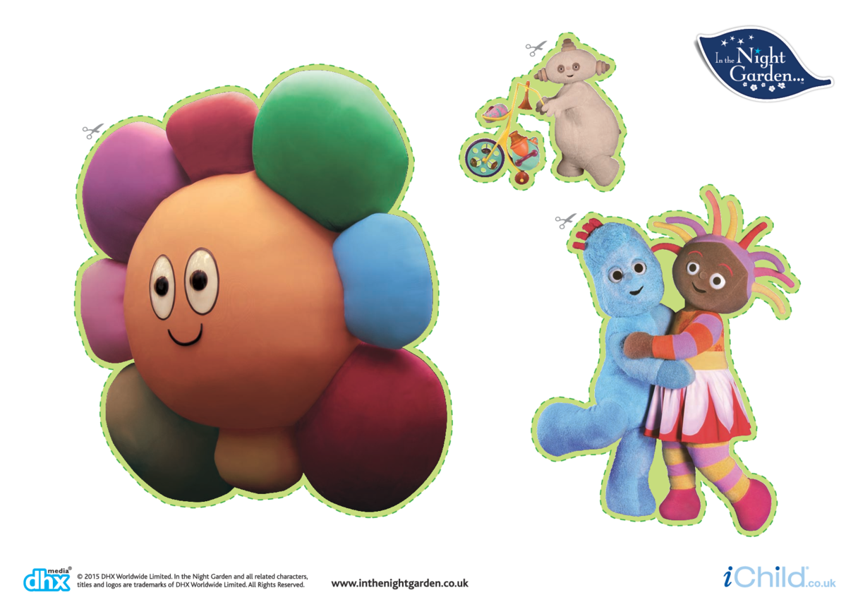 In the Night Garden Large Sticker Sheet: Friends & The Hahoos