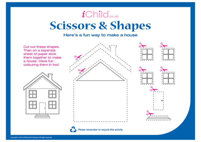 Thumbnail image for the Scissors & Shapes activity.