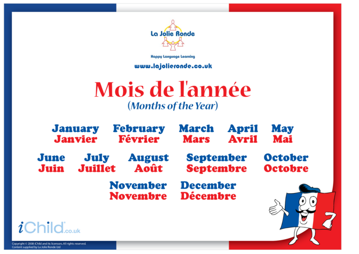 Thumbnail image for the Months in French activity.