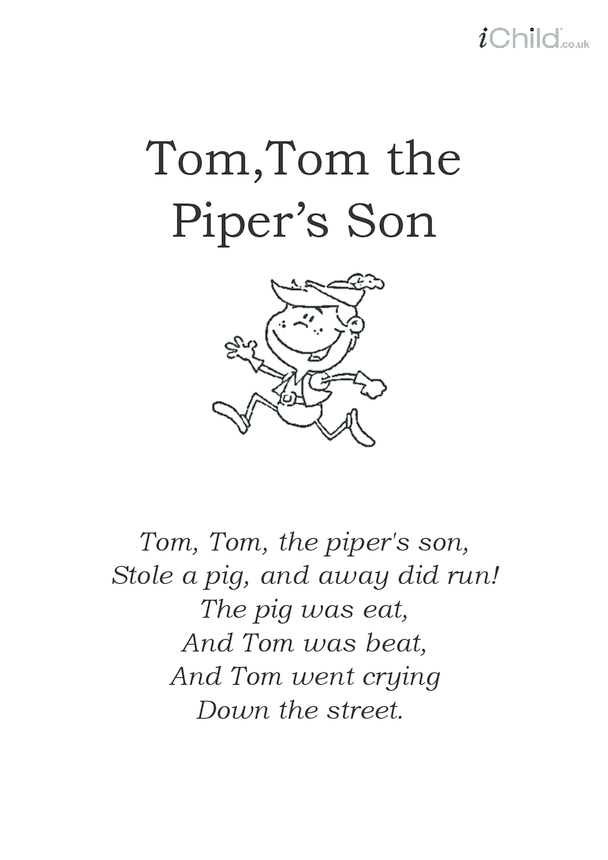 Tom, Tom the Piper's Son Lyrics