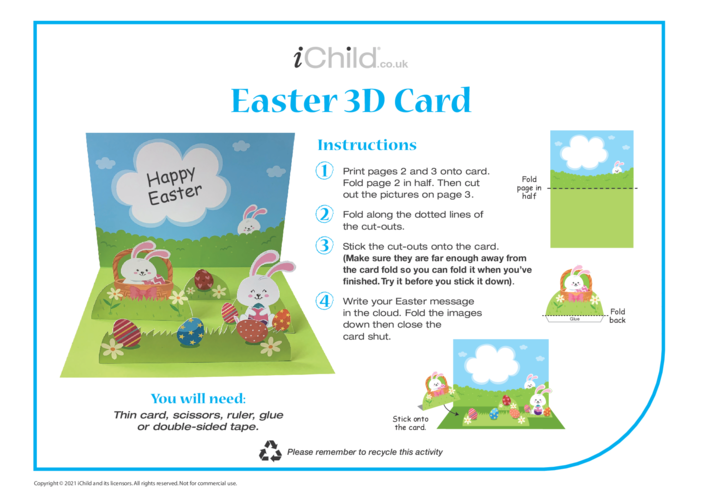 Thumbnail image for the Easter 3D Card activity.