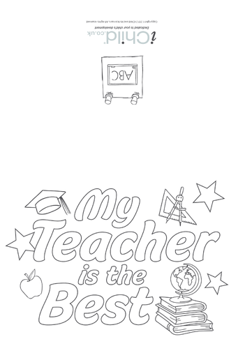 Thumbnail image for the My Teacher Is The Best - Card activity.